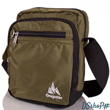 3954d4256e4f Мужская спортивная сумка ONEPOLAR (ВАНПОЛАР) W5053-green