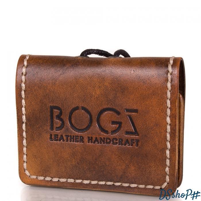 85402f113635 Мужское кожаное мини-портмоне ручной работы BOGZ (БОГЗ) BZ-5-A103 ...